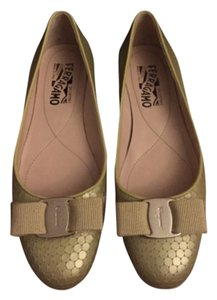 Salvatore Ferragamo Yellow Flats