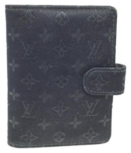 Louis Vuitton #5022 Satin monogram Mini Pocket agenda wallet