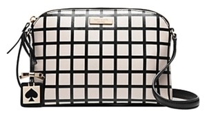 Kate Spade New With Tag Check Pattern Cross Body Bag