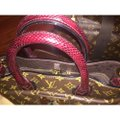 Louis Vuitton monogram exotique bordeaux (exotic runway bag) Tote in Monogram Image 1