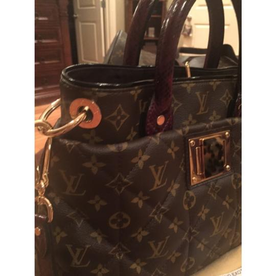 Louis Vuitton monogram exotique bordeaux (exotic runway bag) Tote in Monogram Image 3