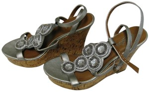 Candie's Pewter (Gray) Wedges