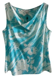 St. John Nwt Collection Silk Silk Top Antigua/Bright White