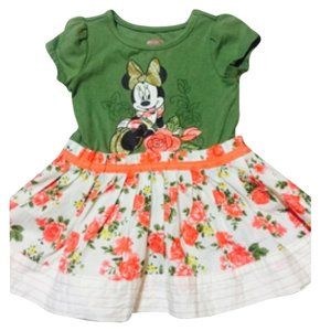 Disney short dress Green and floral at the bottom on Tradesy