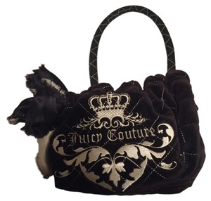 Juicy Couture Purse Velvet Tote in Black