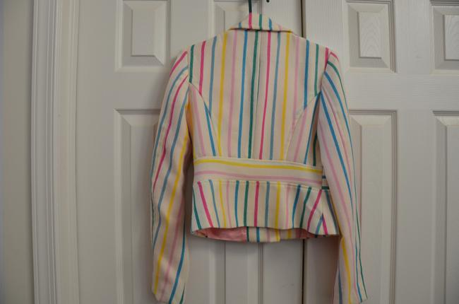 Fornarina pink green and white striped Jacket