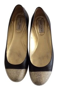Jimmy Choo Made In Italy Black with rhinestone Flats