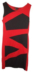Valerie Bertinelli short dress Red/Black on Tradesy