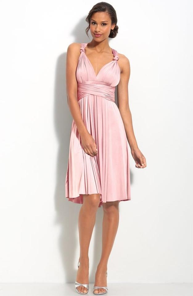 Twobirds Blush Jersey Formal Bridesmaid/Mob Dress Size OS (one size ...