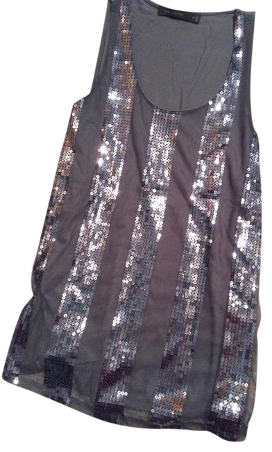 The Limited Top Gray sequins