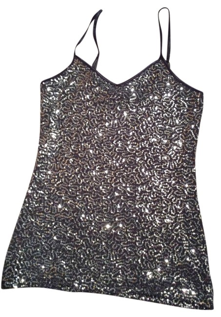 Express Top Gray sequins