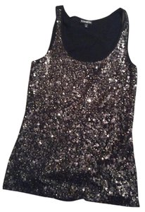 Express Top Black silver sequins