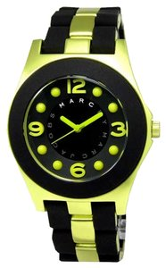 Marc by Marc Jacobs NEW! ~No Tag~ Marc by Marc Jacobs Two Tone Black/Green Silicone Pelly Watch