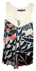 A Common Thread Anthropologie Top Cream / Navy / Coral