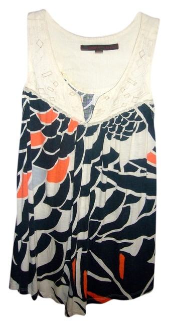 Item - Cream / Navy / Coral For Anthropologie Tank Top/Cami Size 4 (S)