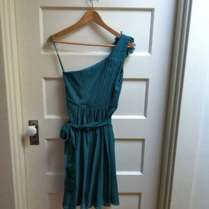 Ann Taylor Teal Anne Taylor Bridesmaid Dress Dress
