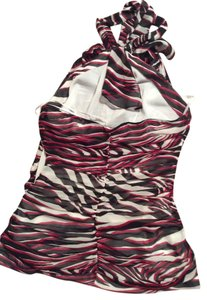 Express Top Black red and white stripe