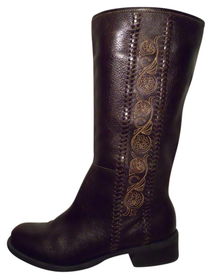 WOMEN Dark Matisse Dark WOMEN Brown Leather Boots/Booties tender d13514