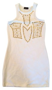 Poetry short dress White And Gold on Tradesy