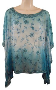 Scala Silk Beaded Cape