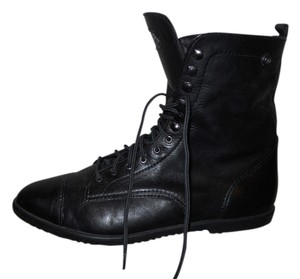 MIA Leather Granny Trooper black Boots