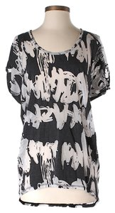 BCBGMAXAZRIA Artsy Top Black & White