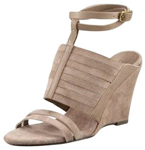 Joie Suede Brown Wedges