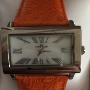 Anne Klein Women's Orange Leather Band With White Face Watch