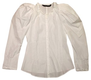 Zara Shirt Button Down Shirt White