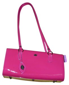 I Santi Patent Leather Genuine Leather Stud Feet Strap Made In Italy Shoulder Bag