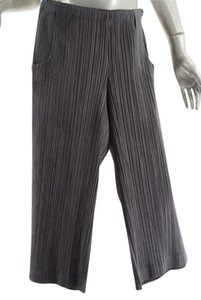 Issey Miyake Pleats Please Culottes Capris Sage Grey