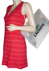 Lacoste short dress Dark Orange & white stripe on Tradesy