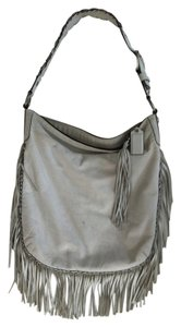 Coach Fringe Hem Leather Boho Hobo Bag