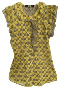Eva Franco Top Yellow and gray