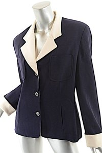 Wathne Vintage Navy with Cream Blazer