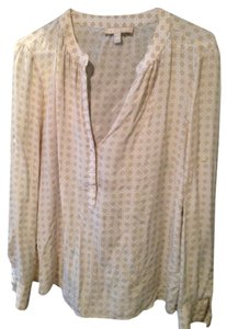 Banana Republic Top Tan and white