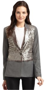 Elizabeth and James Rex Sequins Sparkle Party Gray Blazer