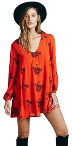 Free People short dress Blood Orange / Red on Tradesy