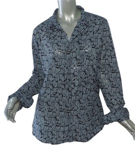 Fresh Produce New With Tag Button Down Shirt gray black