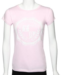 Tommy Hilfiger Summer Cotton Fitted Logo Graphic T Shirt Pink