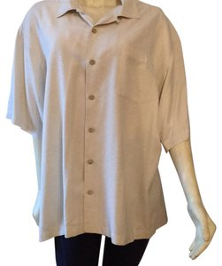 Tommy Bahama Tan Summer Button Down Shirt