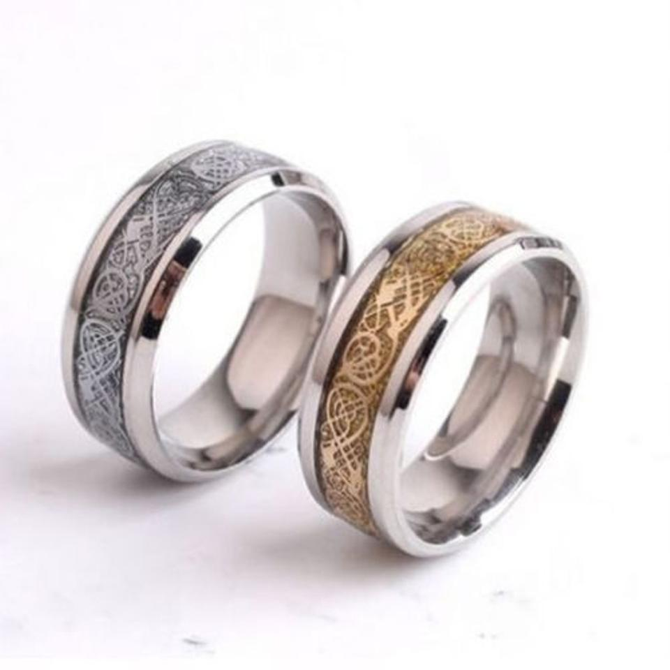 Silver Tungsten Titanium Carbide Black Ring Free Shipping Men's Wedding Band