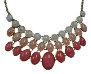 New York & Company Chain-link gold-toned necklace with fake stone accents