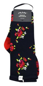 Gilly Hicks Floral Intarsia Slouchy Boot Socks