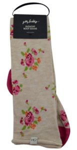 Gilly Hicks Floral Intarsia Slouchy Boot Socks Cast Off