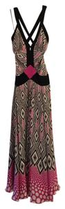 Black/White/Pink Maxi Dress by Temperley London