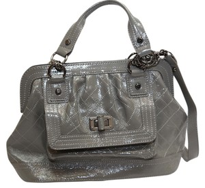 Elliott Lucca Satchel in Gray patent