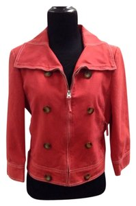 BCBGMAXAZRIA Canvas Spring Red Jacket