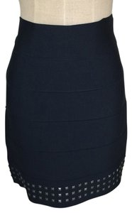 BCBGMAXAZRIA Bandage Bcbg Studded Mini Skirt Black