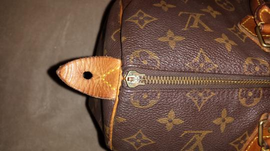 Louis Vuitton Leather Classic Monogram Duffle Vintage Satchel in Brown and Tan
